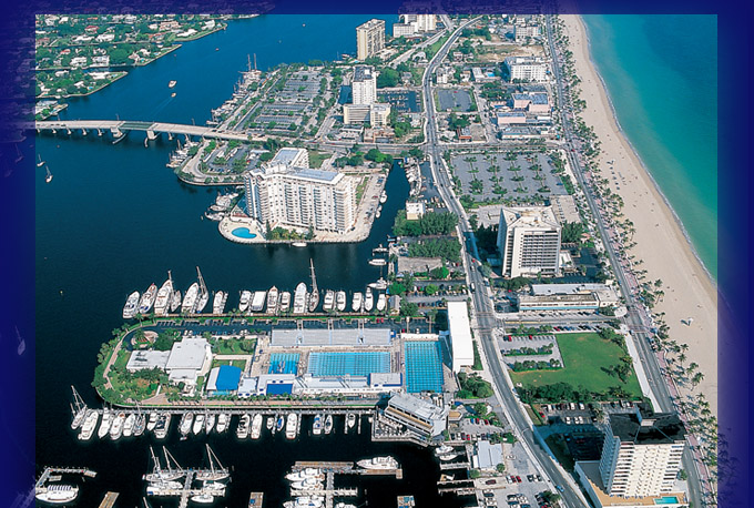 Helicopter View of Hall of Fame Marina
